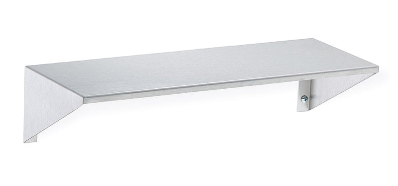 "Stainless Steel Shelf with Integral End Brackets, 8"" Depth x 16"" Length - Bradley - 758-16"