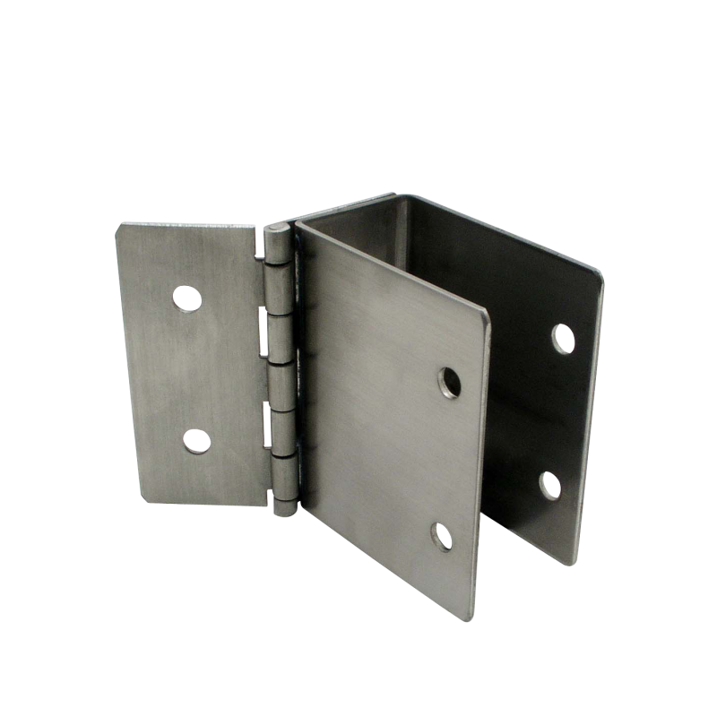 "Stamped Stainless Steel, Hinged Bracket For 1"" Material - 011135"