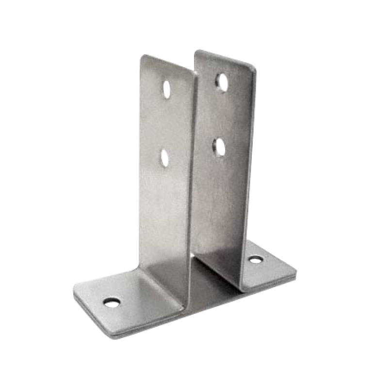 "Stamped Stainless Steel, X-High Urinal Screen Bracket For 1"" Material - 0128"