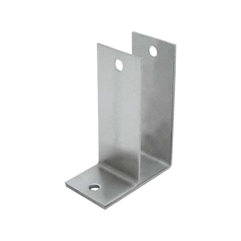 "Stamped Stainless Steel, One Ear X-High 1-1/4"" Wall Bracket - 0131"