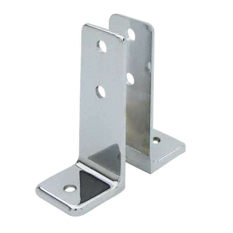 "Stamped Stainless Steel, ""L"" Bracket - Set of 2 - 0132"