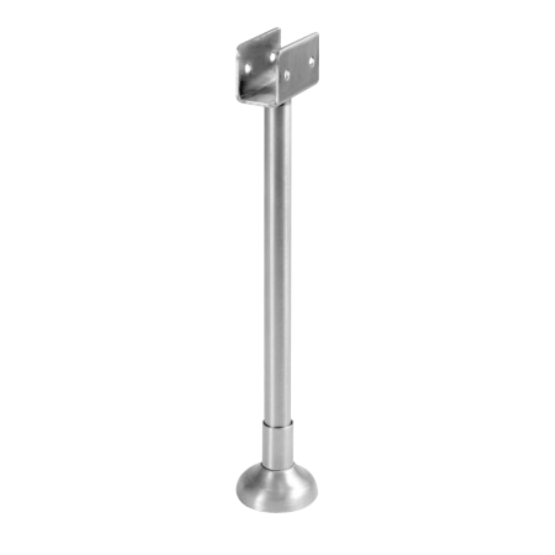 "Toilet Compartment, Stainless Steel, Pilaster Support Bracket, To Accept 7/8"" Partition Material 013501"