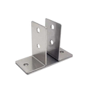 "Stamped Stainless Steel, 2 Ear Urinal Screen Bracket For 1"" Material - 0161"