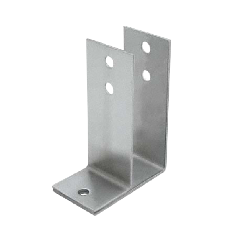 "Stamped Stainless Steel, X-High Urinal Screen Bracket For 1"" Material - 0166"