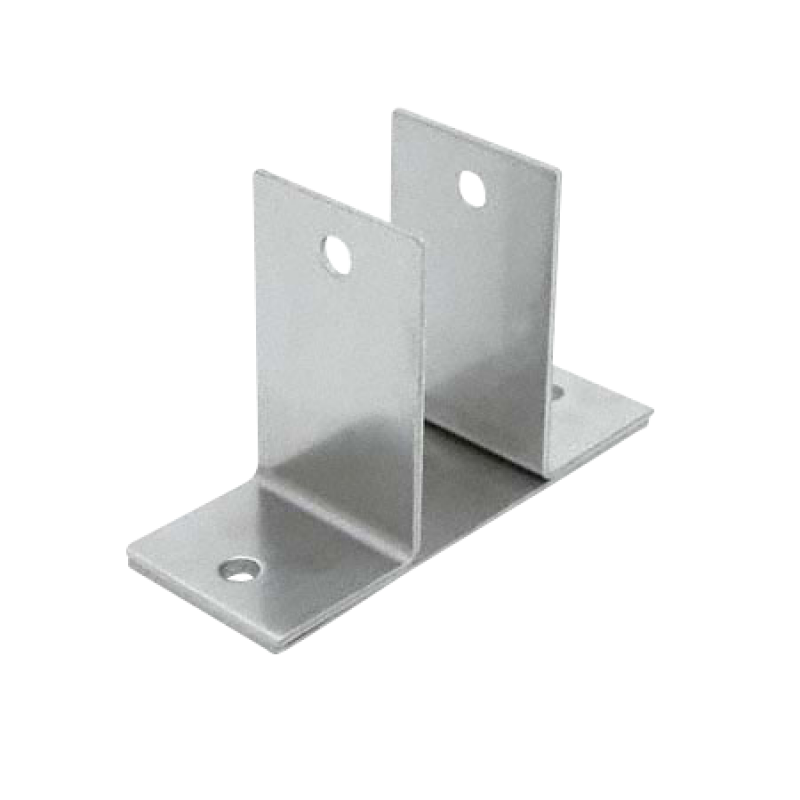 "Stamped Stainless Steel, Two Ear 1-1/4"" Wall Bracket - 0183"