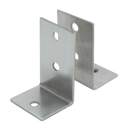 Stamped Stainless Steel, 2 Piece L Bracket Pack - 0186