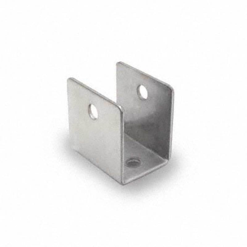 "Bathroom Stall, Stamped Stainless Steel, ""U"" Bracket for 1"" Material - 0191"