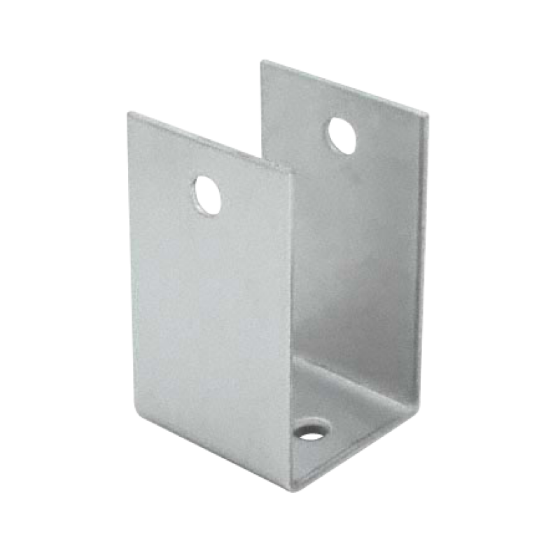 "Stamped Stainless Steel, X-High ""U"" Bracket For 3/4"" Material - 0198"