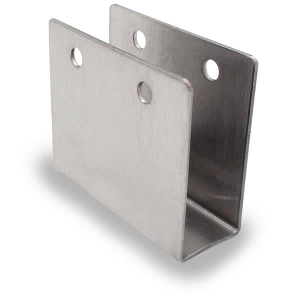 "Stamped Stainless Steel, 3/4"" Ex-High 3"" Long ""U"" Bracket For 3/4"" Material - 0231"