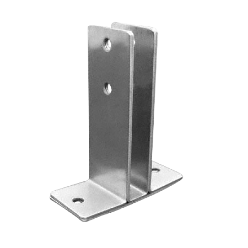 "Stamped Stainless Steel, X-Heavy 2 Ear Urinal Screen Bracket For 1/2"" Material - 0430"