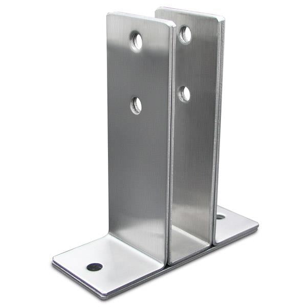 "Stamped Stainless Steel, X-Heavy 2 Ear Urinal Screen Bracket for 7/8"" Material - 0432"