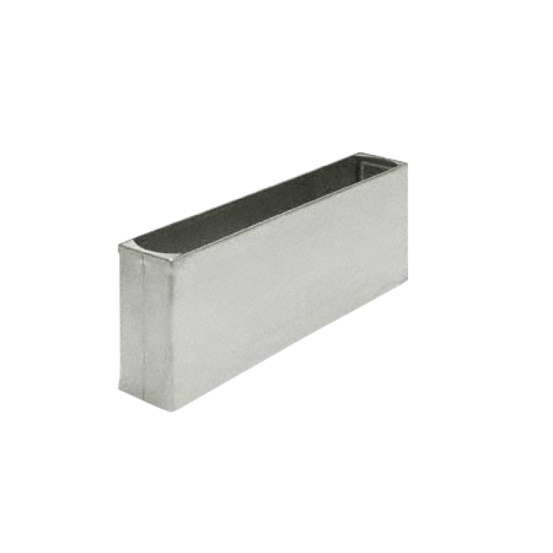 "3"" H X 7"" W Rd End Stainless Steel Pilaster Shoe For Baked Enamel Pilaster 06207"