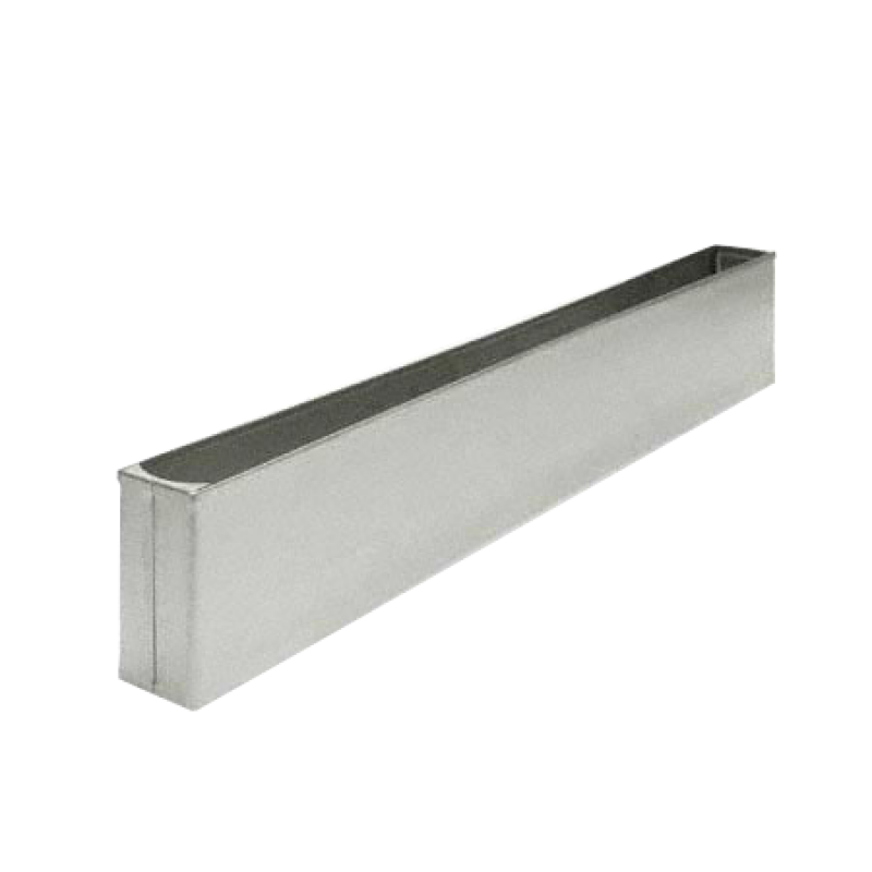 "3"" H X 14""W Rd End Stainless Steel Pilaster Shoe For Baked Enamel Pilaster 06214"