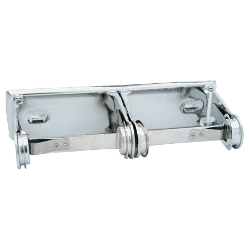Chrome Plated Steel Dual Toilet Paper Holder 0736