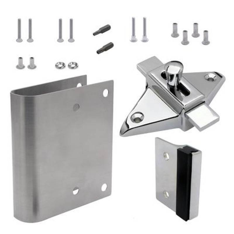 FIX-IT-KIT - Bathroom Partition Door Converts Concealed Latch To Slide Latch Operation Outswing  111169