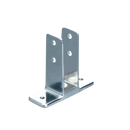 "Chrome Plated Zamac, Two Ear Urinal Screen Bracket for 1"" Material - 1128"