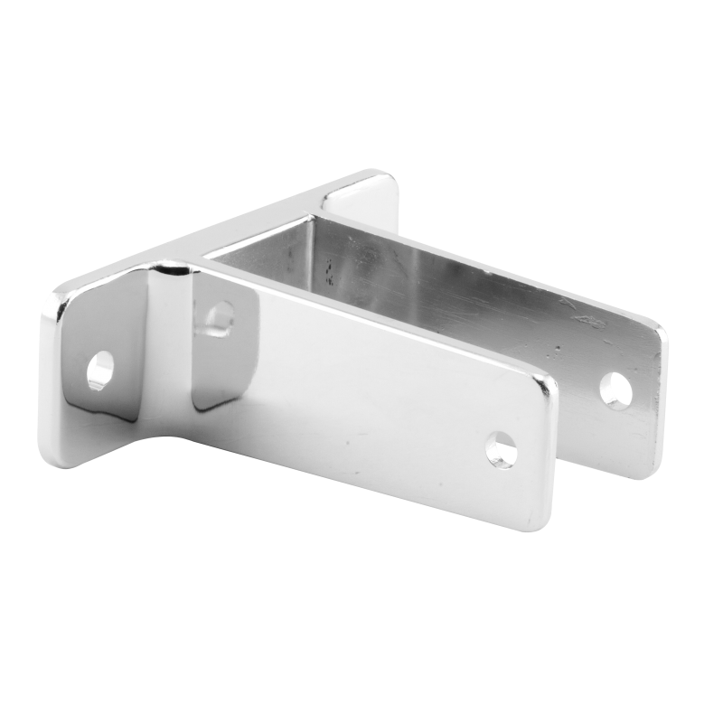 "Restroom Partition Chrome Plated, X- High Wall Bracket To Accept 1-1/4"" Partition Material - 1130"