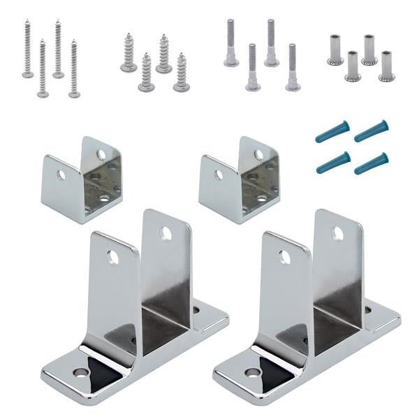 "Chrome Plated Zamac, 2 Ear, Panel Pack for 1-1/4"" Material - 11504"