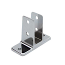 "Chrome Plated Zamac, Two Ear Urinal Screen Bracket for 7/8"" Material - 1160"