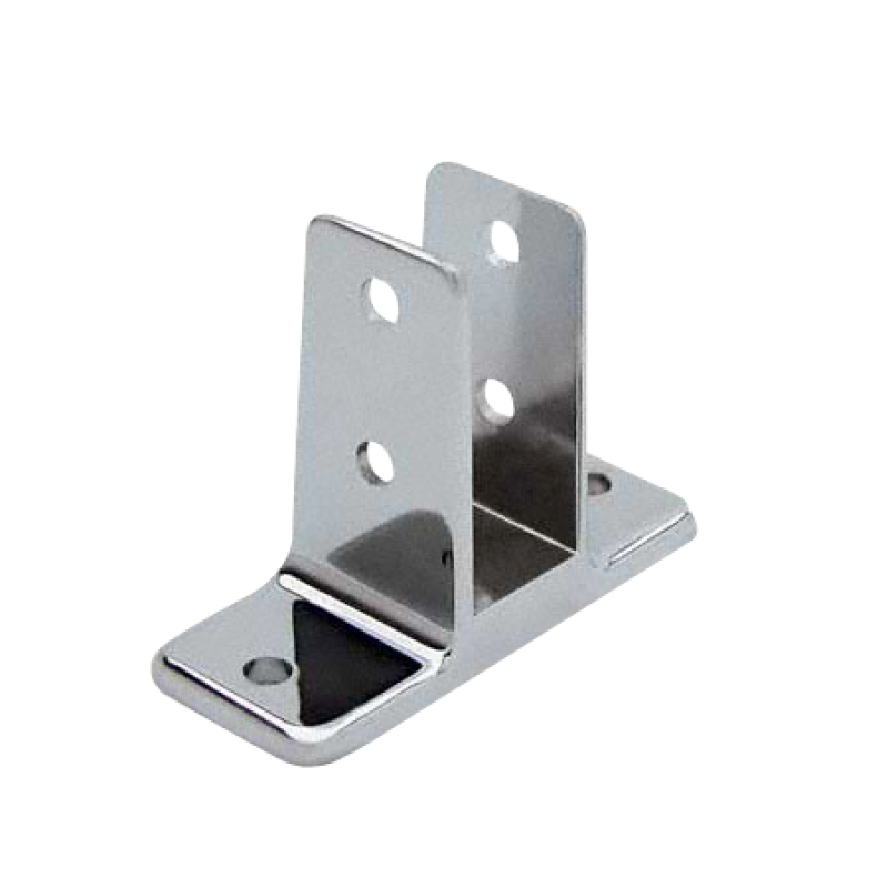 "Chrome Plated Zamac, Two Ear Urinal Screen Bracket for 1"" Material - 1161"