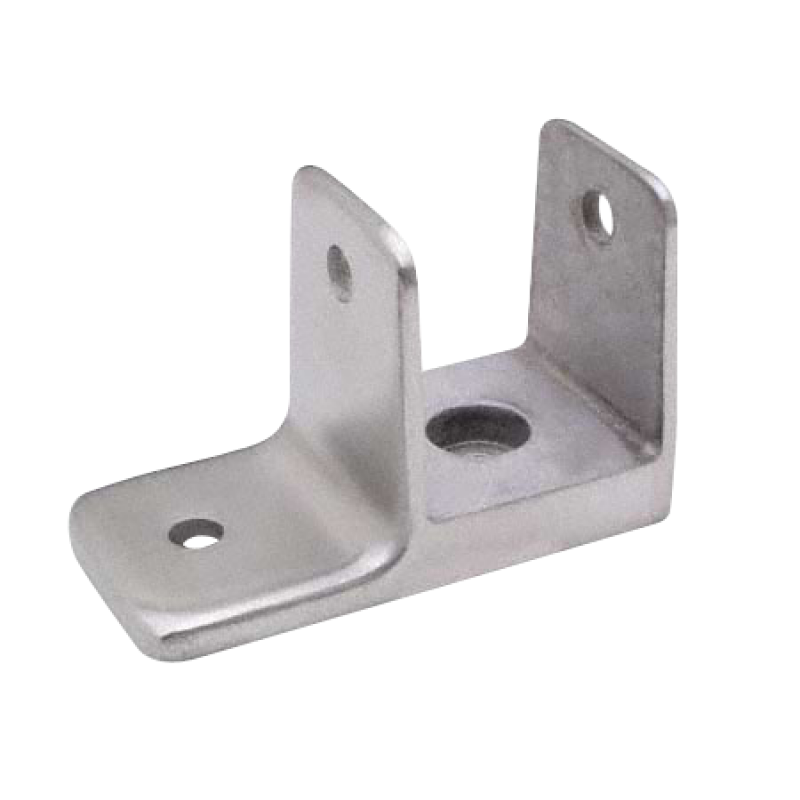 "Chrome Plated Zamac, ""MINI"" Wall Bracket To Accept 1-1/4"" Partition Material 1185"