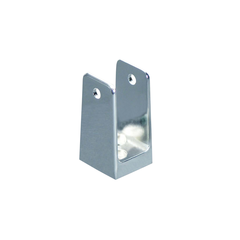 "Chrome Plated Zamac, X-High ""U"" Bracket  For 1"" Material - 1192"