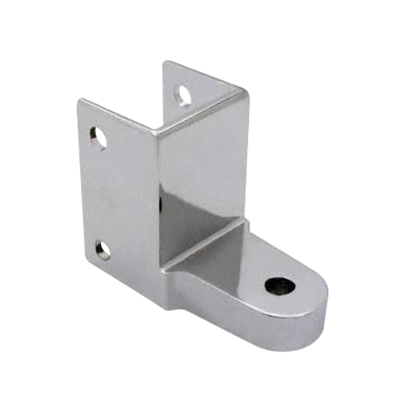 "Chrome Plated Zamac Door Hinge Bracket For 1-1/4"" Material - 1353"