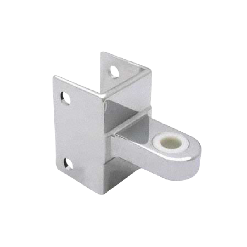 "Chrome Plated Zamac Door Hinge Bracket For 1-1/4"" Square Edged Pilasters - 1373"