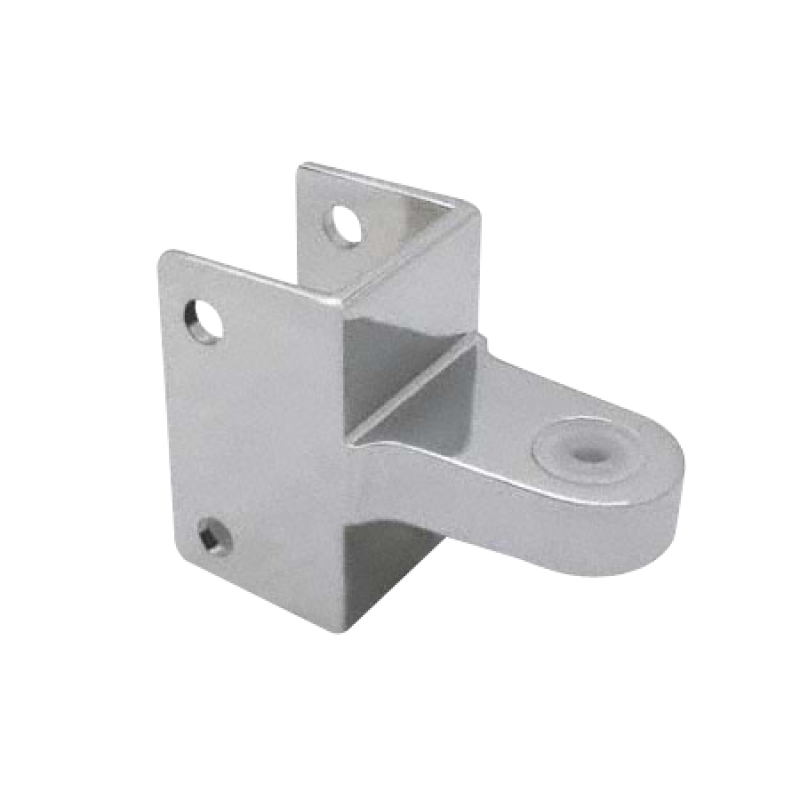 "Chrome Plated Zamac, Door Hinge Top Bracket For 1-1/4"" Square Pilaster - 1381"