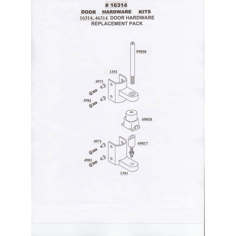 Chrome Plated Zamac, In Or Outswing Door Hardware Kit 16314