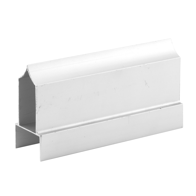 Restroom Compartment Extruded Aluminum Headrail, 8-1/2' Lengths 38005