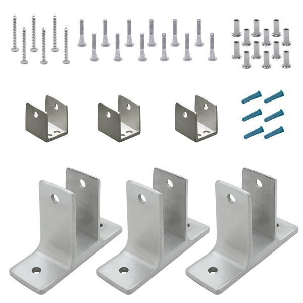 "Cast Stainless Steel, 2 Ear Panel Pack, 3 Brackets for 3/4"" Material - 41516"