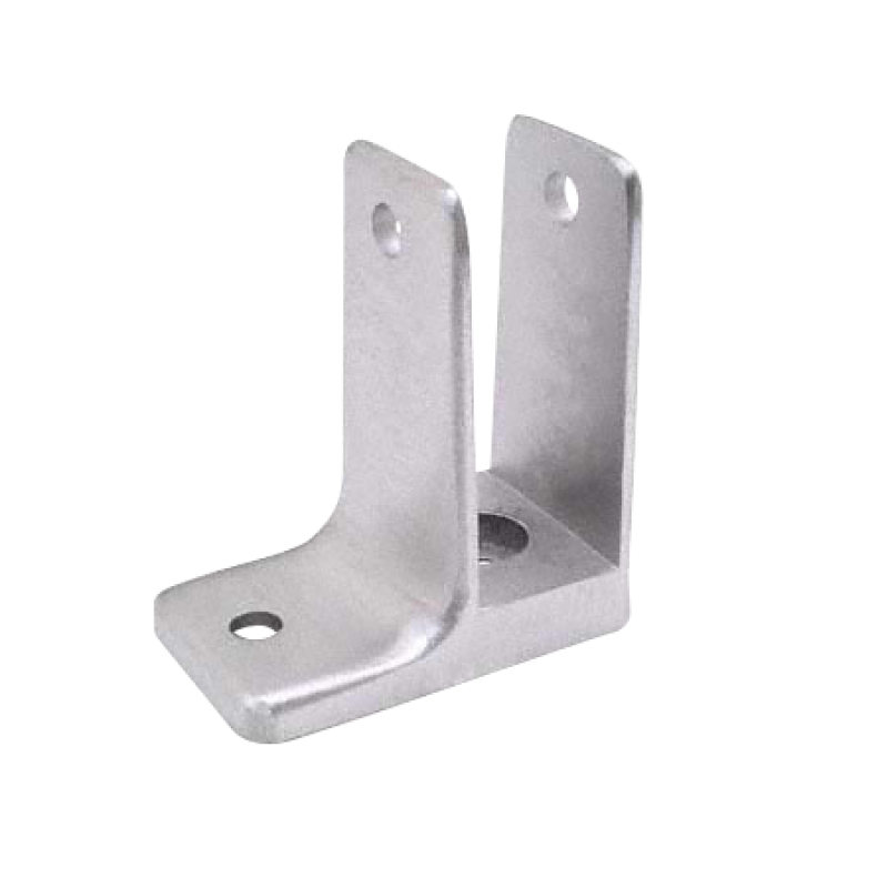 Bathroom Stall, Cast Stainless Steel One Ear Wall Bracket - 4176