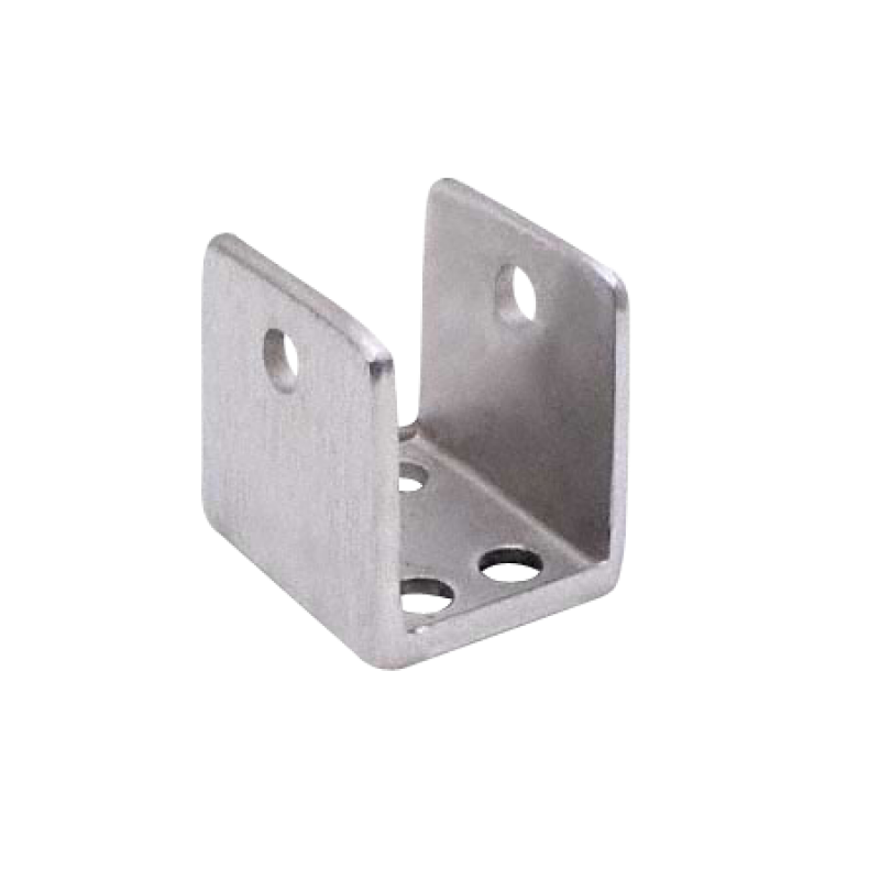 "Bathroom Stall, Cast Stainless Steel, ""U"" Bracket for 1"" Material - 4191"