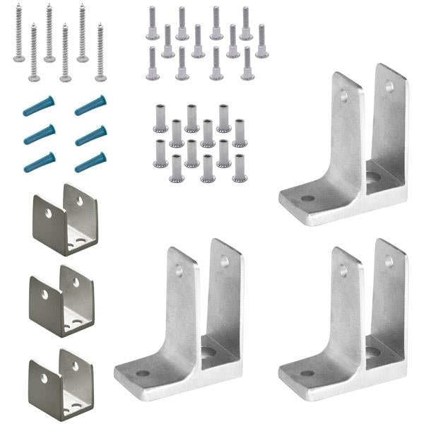 "Cast Stainless Steel, 1 Ear Panel Pack, 3 Brackets For 3/4"" Material - 471510"
