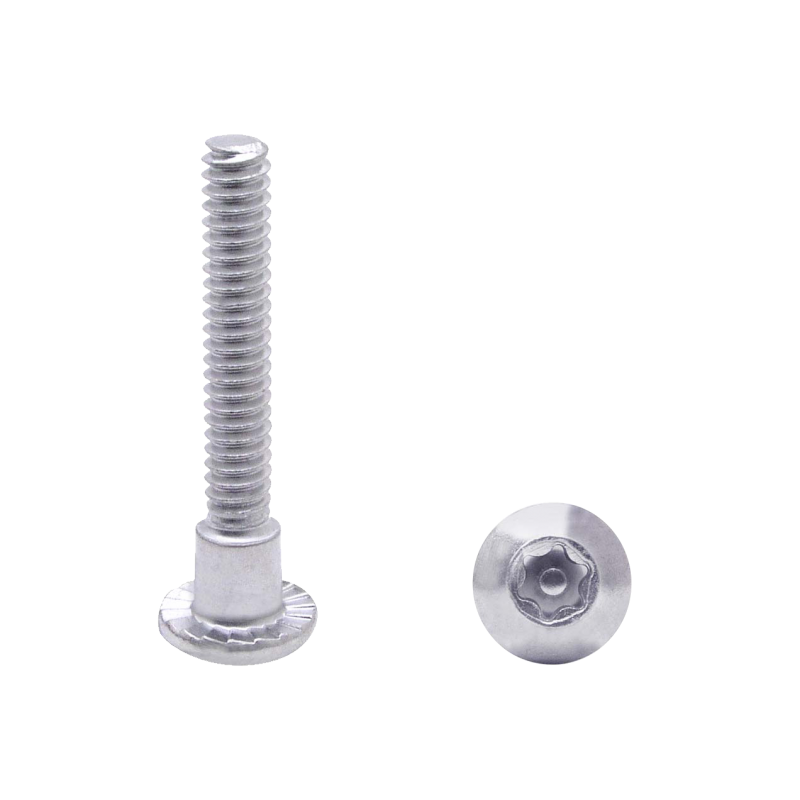 Chrome Plated Steel, 6 Lobe Shoulder Screw W/Center Pin, 100 Pack   48827