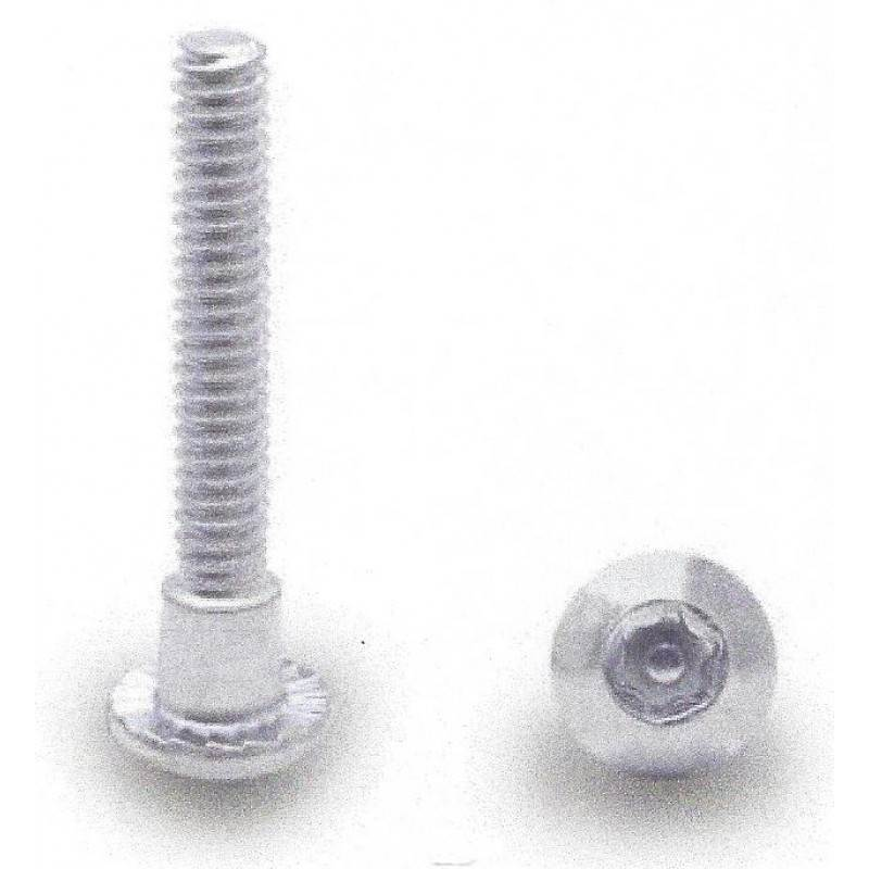 "Chrome Plated, T27 6 Lobe 10-24 X 1-5/16"" Security Shoulder Screw 100 Pack 48828"