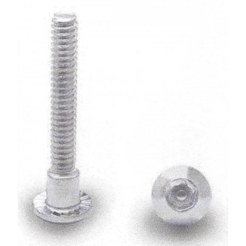 "Chrome Plated, T27 6 Lobe 10-24 X 1-1/2"" Security Shoulder Screw 100 Pack 48830"