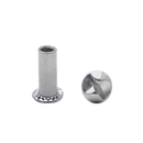 Chrome Plated , One Way Barrel Nut 100/Pack 4970