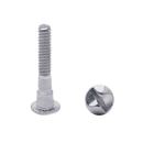 Chrome Plated , One Way, Rd Hd Shoulder Screw, 100 Pack   4981
