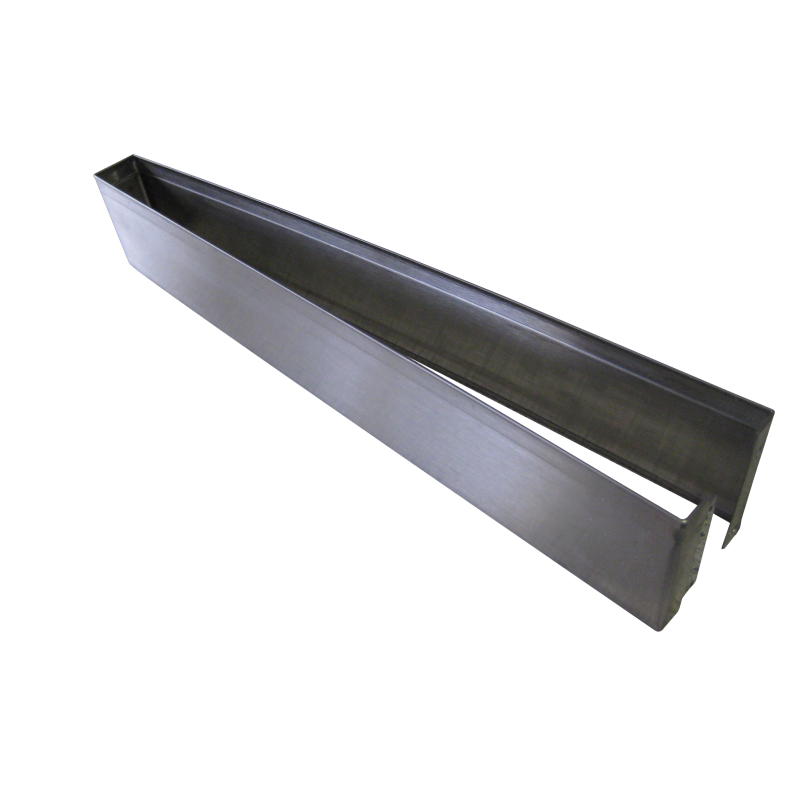 "3""H Stainless Steel, Open Ended (SPLIT) Pilaster Shoe 63216"