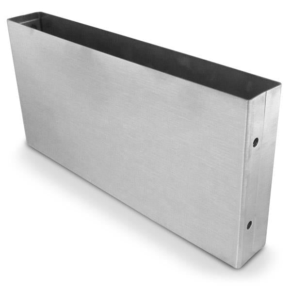 "5"" L X 1"" W X 4""H, Open-End, Stainless Steel, Pilaster Shoe 64405"