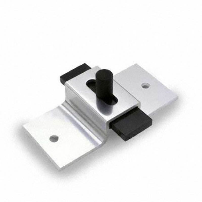 Toilet Compartment, Brite-Dip Aluminum, Surface Mounted Slide latch Straight Bar 9505