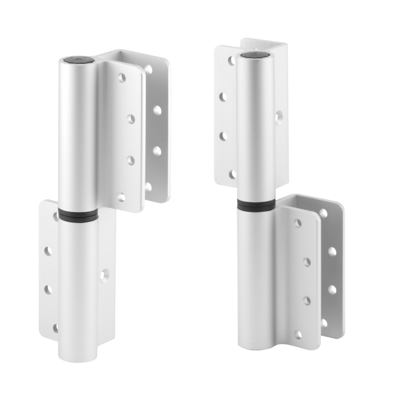 Clear Anodized Aluminum, Surface Mount Door Hinges 9797