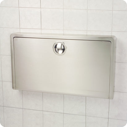 Horizontal Stainless Steel Wall Mount Baby Changing Station KB110-SSWM