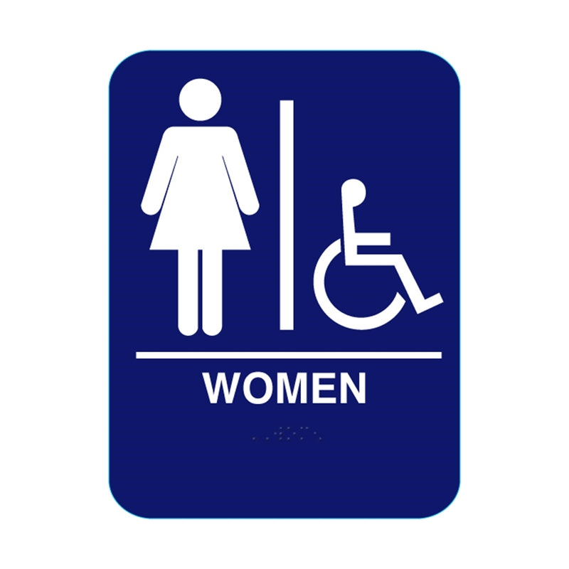 "Blue Series - Women's 6"" X 9"" ADA Wall Sign SUWHAD"