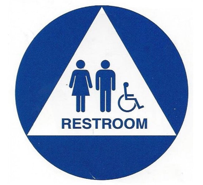 Royal Blue Series - Unisex ADA Bathroom Sign Pack - SURBU