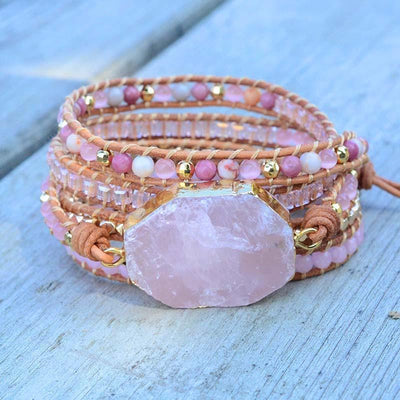 Golden Rose Quartz Bracelet