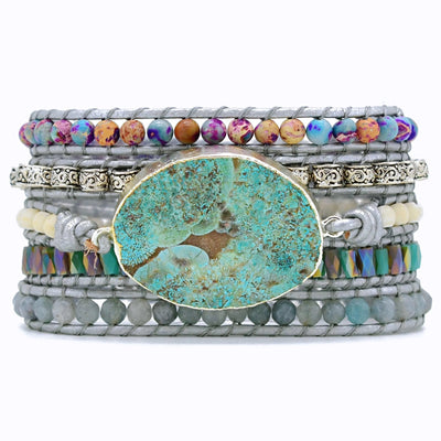 Ocean Jasper Protection Wrap Bracelet