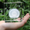 Dandelion Glass Sculpture - Laser Etched